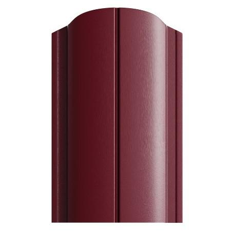 Штакетник полукруглый 128мм Полиэстер 3005 винно-красный